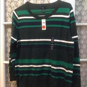 Gap green striped sweater new